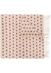 Max Mara cashmere logo scarf