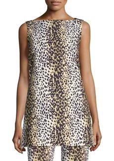 Max Mara Cheetah-Print Top