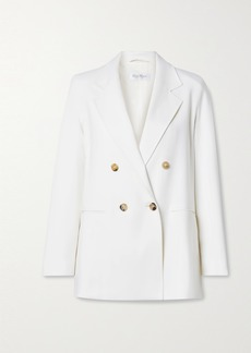 Max Mara Cile Double-breasted Wool-blend Crepe Blazer