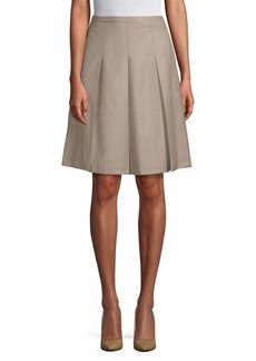 Max Mara Classic Pleated A-Line Skirt