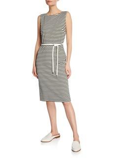 Max Mara Comica Sleeveless Striped Jersey Dress