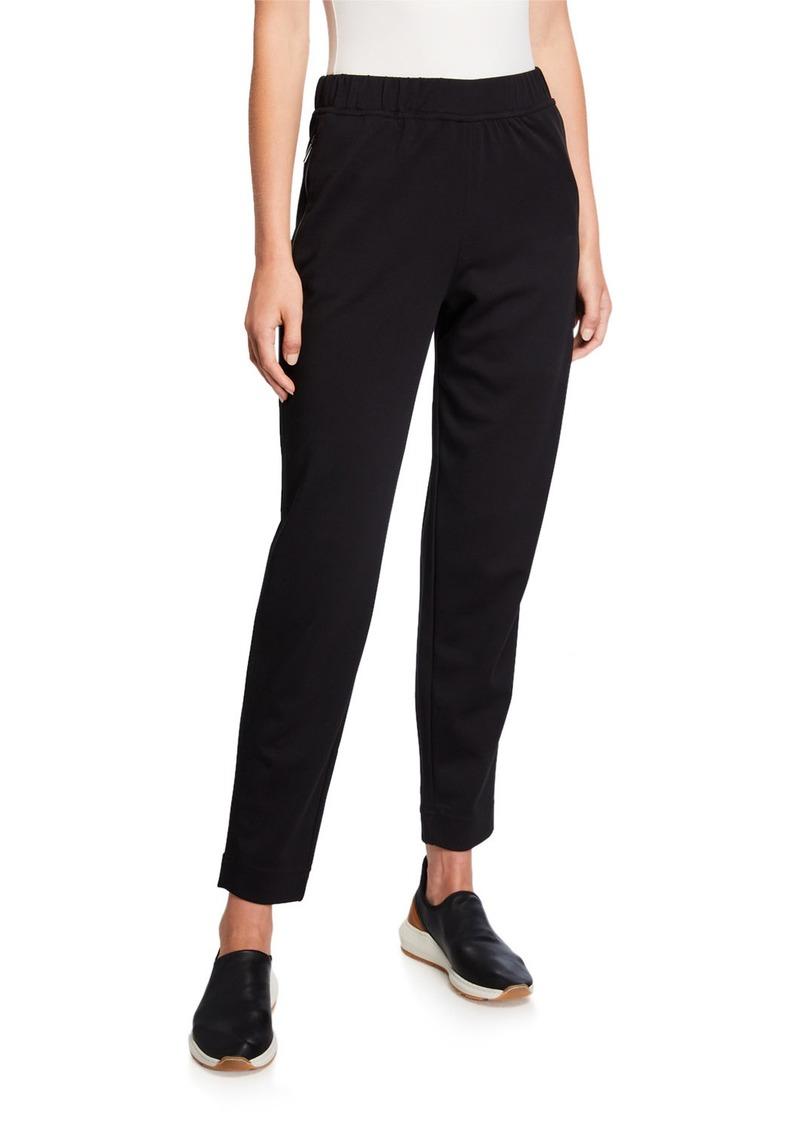 Max Mara Cotton/Nylon Jersey Pull-On Pants