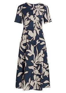Max Mara Cresta Floral Belted Dress