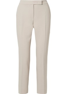 Max Mara Cropped Stretch-wool Crepe Straight-leg Pants