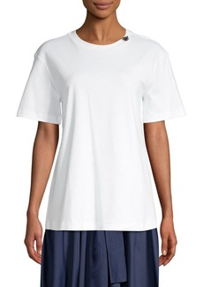 Max Mara Crystal Detail Cotton Tee