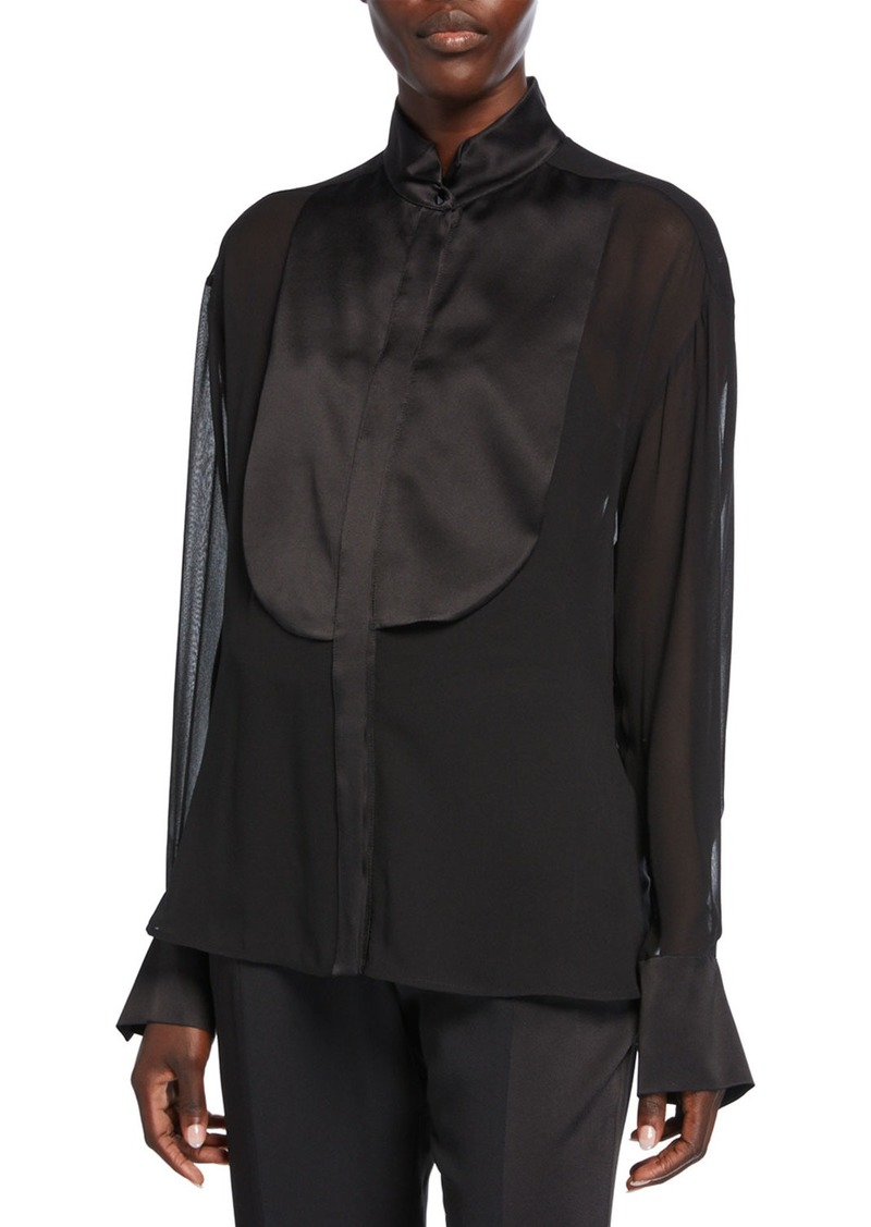 Max Mara Danae Silk Tuxedo Shirt