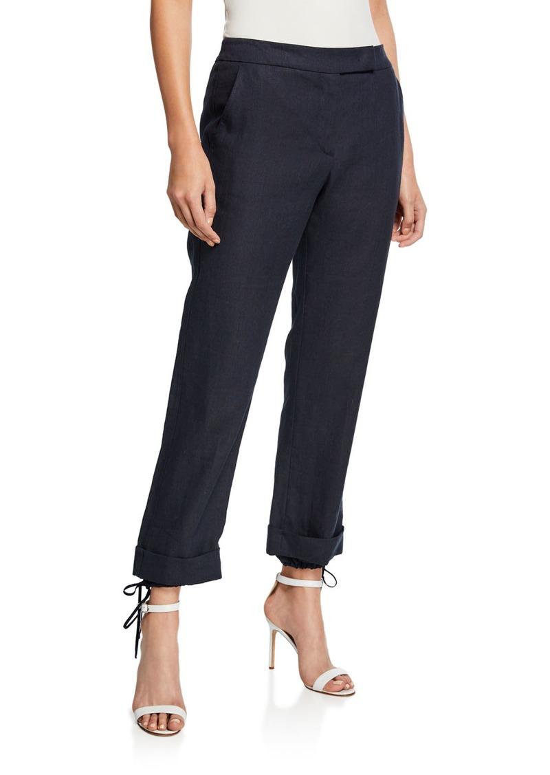 Max Mara Denver Linen Zip Front Trousers