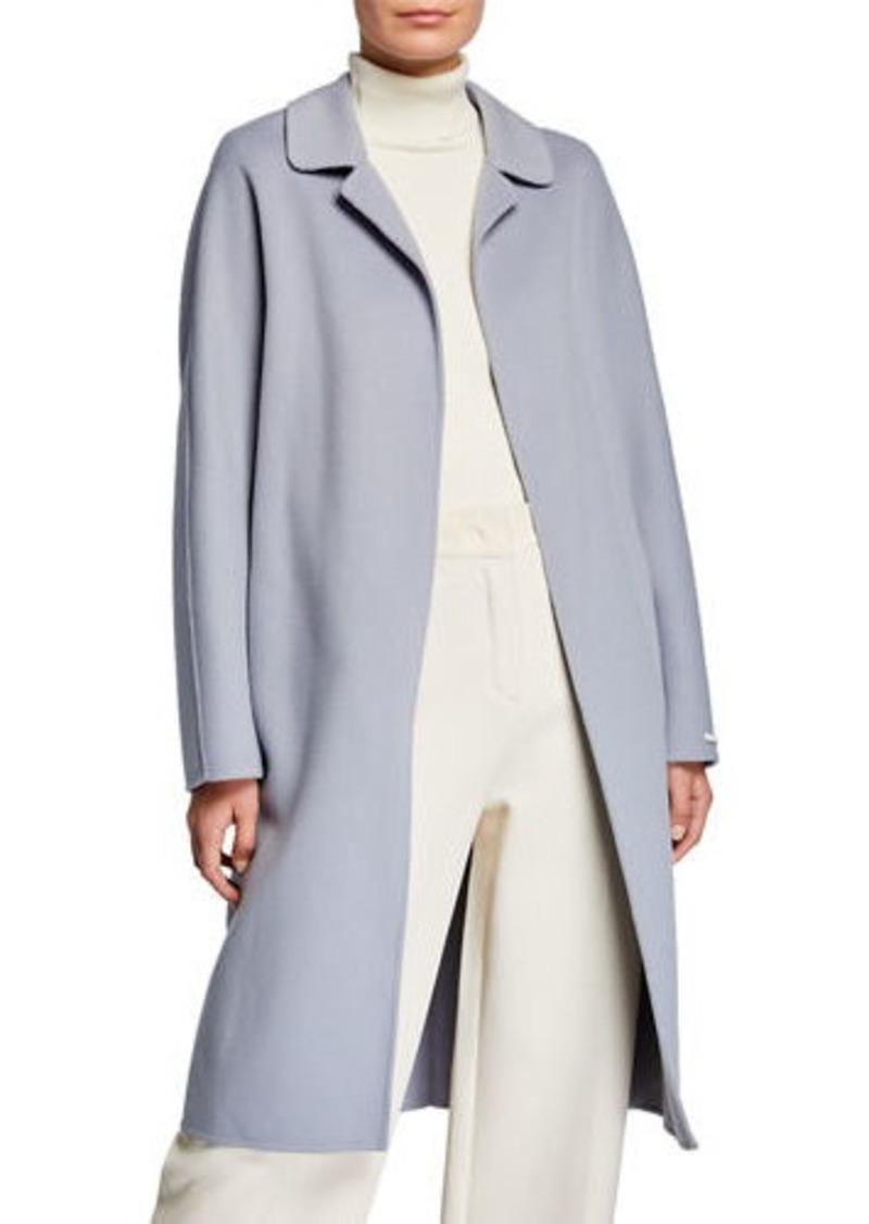 Max Mara Doraci Midi Wrap Double-Face Wool Coat