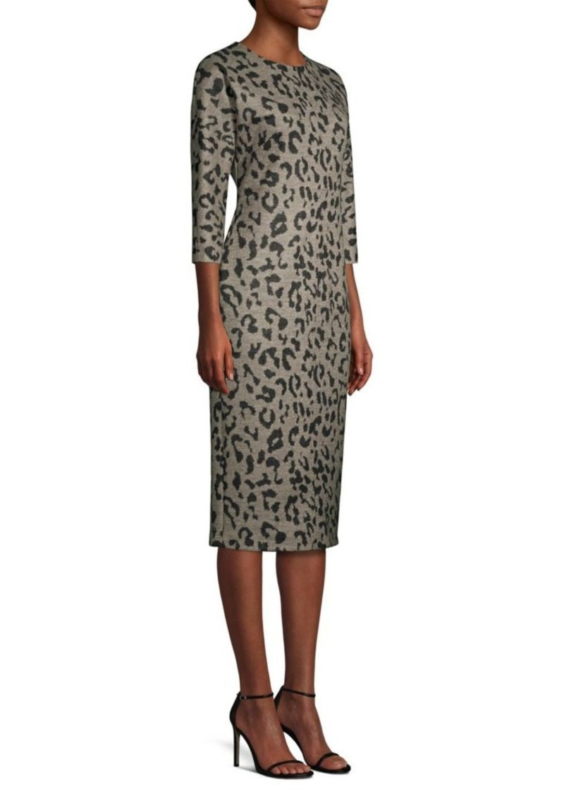 eda2fa23baf Max Mara Dramma Animal-Print Wool Midi Dress