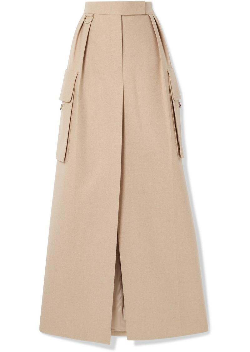 Max Mara Duente Wool And Cashmere-blend Maxi Skirt
