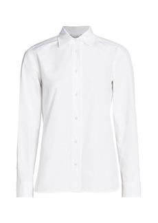 Max Mara Edy Poplin Collared Shirt