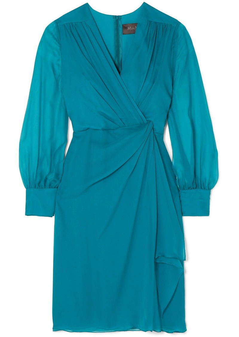 Max Mara Elegante Knotted Silk-chiffon Dress