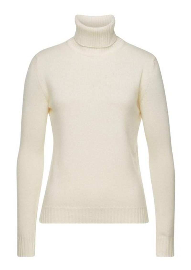 Max Mara Ellisse Turtleneck Pullover in Virgin Wool and Cashmere