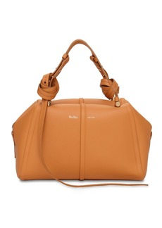 Max Mara Elsab Smooth Leather Top Handle Bag