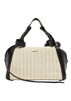 Max Mara Elsab2 Olefin & Leather Shoulder Bag