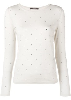 Max Mara embellished knitted top