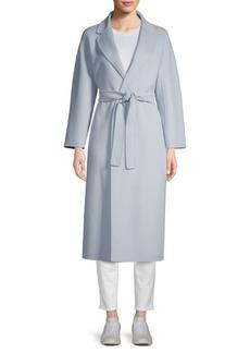Max Mara Esturia Notch Collar Belted Virgin Wool Trench Coat