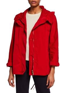 Max Mara Faille Raincoat Parka w/ 4 Pockets