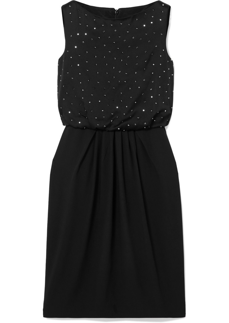 Max Mara Farasio Crystal-embellished Satin-crepe Dress