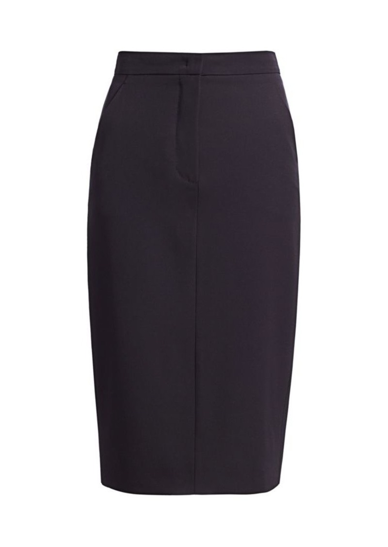 Max Mara Faris Wool Crepe Pencil Skirt