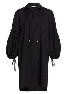 Max Mara Fedora Poplin Full-Sleeve Tunic Dress