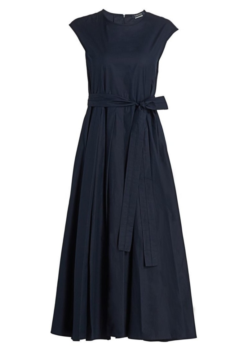 Max Mara Filly Poplin Pleated Midi Dress