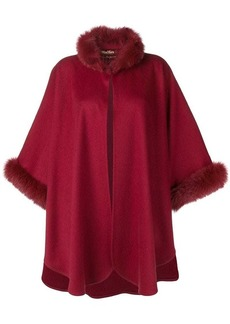 Max Mara fox fur trim cape