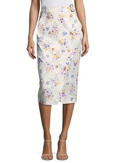 Max Mara Ginseng Floral Midi Skirt