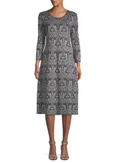 Max Mara Gita Paisley Jacquard Shift Dress