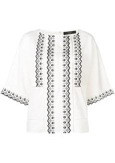 Max Mara Giudy embroidered blouse