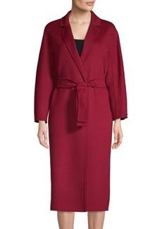 Max Mara Giungla Virgin Wool & Angora Wrap Coat