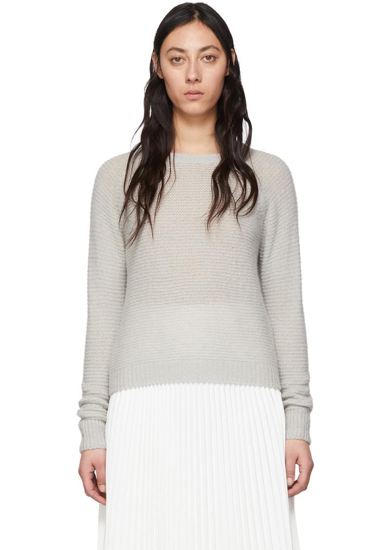 Max Mara Grey Cashmere & Silk Ciad Sweater