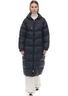 Max Mara Hooded Nylon Down Coat