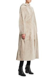 Max Mara Hooded Shearling Coat