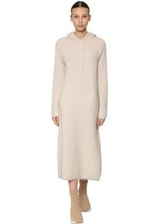 Max Mara Hooded Virgin Wool & Cashmere Knit Dress