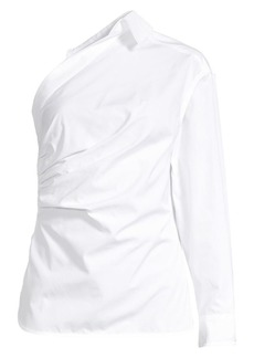 Max Mara Jack One-Shoulder Cotton Shirt