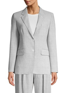 Max Mara Kent Two-Button Plaid Jacket