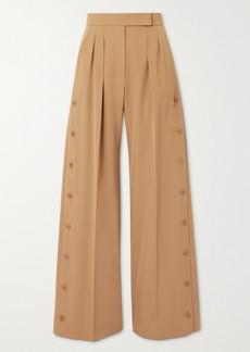Max Mara Kirsch Pleated Wool-twill Wide-leg Pants