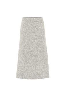 Max Mara Leida high-rise wool-blend skirt