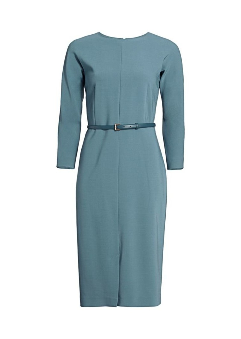 Max Mara Liriche Belted Sheath Dress