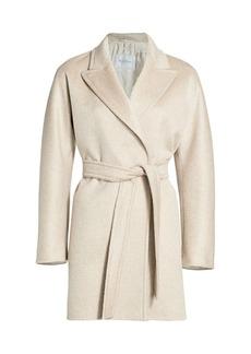 Max Mara Luna Belted Cashmere Wrap Coat