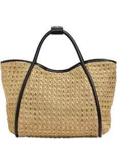 Max Mara Marinm2 Woven & Leather Tote Bag