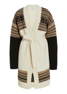 Max Mara - Women's Buona Belted Wool and Cashmere-Blend Cardigan - Multi - Moda Operandi