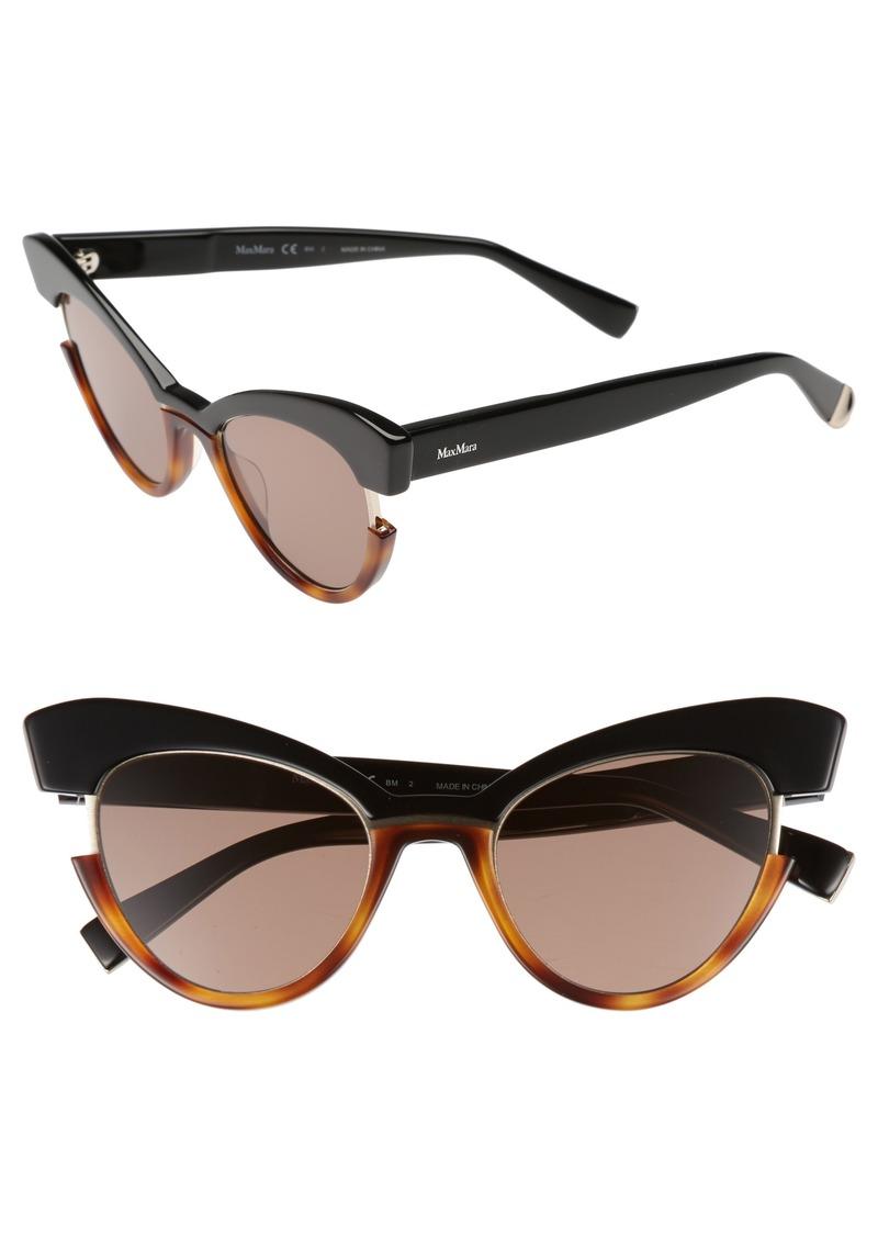 Max Mara 49mm Gradient Lens Cat Eye Sunglasses