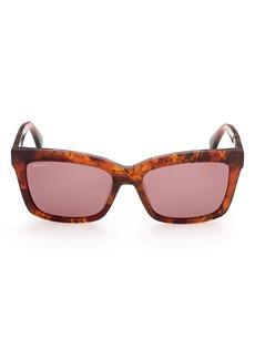 Max Mara 55mm Rectangular Sunglasses
