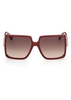 Max Mara 58mm Gradient Square Sunglasses