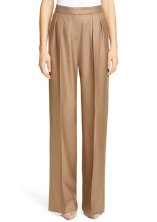Max Mara Aerovia Camel Hair & Silk Pants