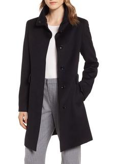 Max Mara Studio Agnese High Collar Wool Coat
