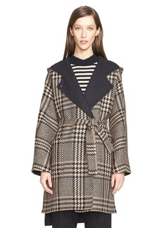 Max Mara 'Alcool' Reversible Wool & Alpaca Hooded Coat with Genuine Mink Trim