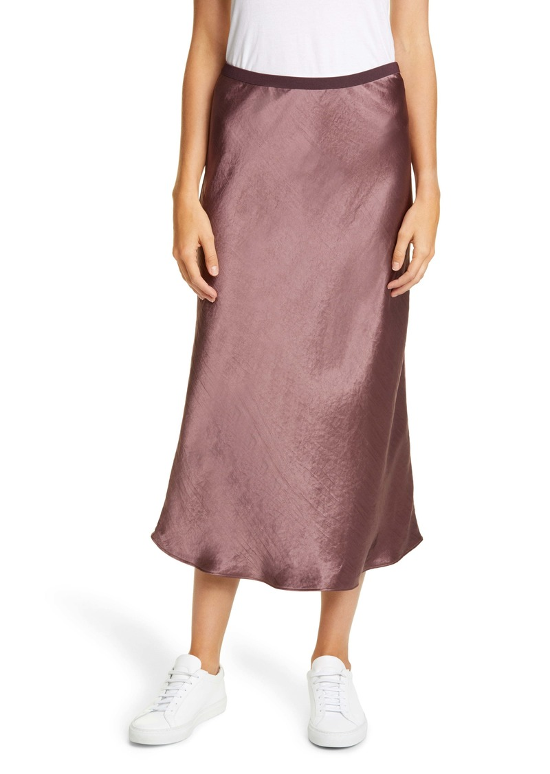Max Mara Leisure Alessio Bias Cut Satin Skirt